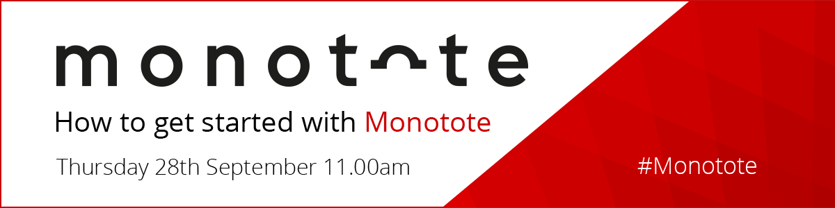 Webinar: Learn more about Monotote's technology